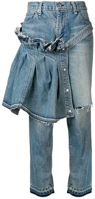 Sacai flared cropped jeans
