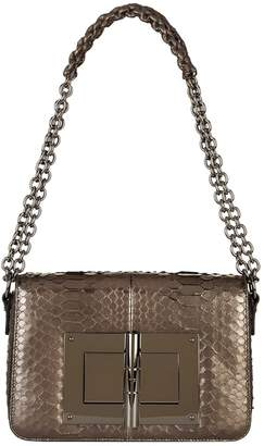 Tom Ford Large Metallic Python Natalia Shoulder Bag