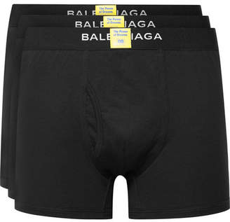 Balenciaga Three-Pack Cotton Boxer Briefs