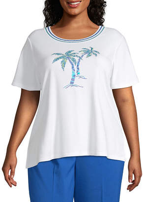 Alfred Dunner Waikiki Beaded Palm Tree Top - Plus