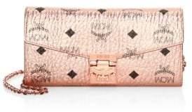 MCM Large Patricia Visetos Crossbody Wallet
