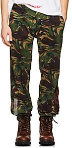 Off-White MEN'S CAMOUFLAGE COTTON WORK PANTS-GRN. PAT. SIZE 32