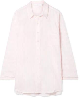 Pour Les Femmes Juliette Striped Cotton Nightdress - Pastel pink
