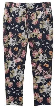 Violeta BY MANGO Flowy floral trousers