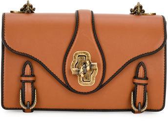 Bottega VenetaBottega Veneta Leather Outline City Knot Shoulder Bag, Tan