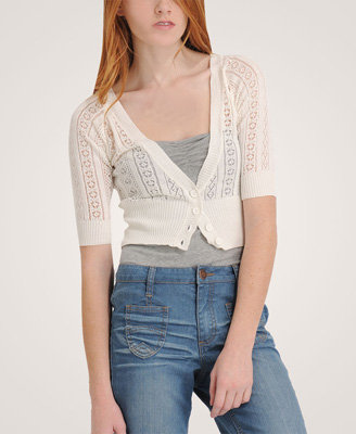 Cropped Knit Cardigan