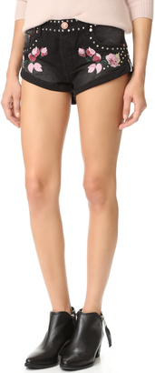 One Teaspoon Bird Of Paradise Bandit Shorts $165 thestylecure.com