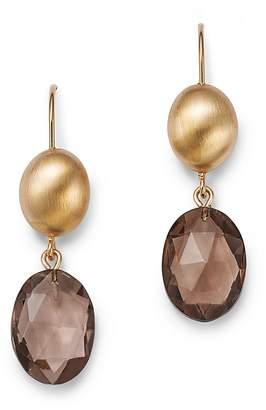 Bloomingdale's Smoky Quartz Oval Drop Earrings in 14K Yellow Gold - 100% Exclusive