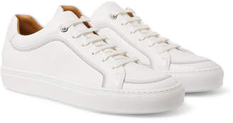 HUGO BOSS Mirage Textured-leather Sneakers - White