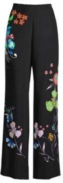 Etro Tropical Floral Wide-Leg Pants