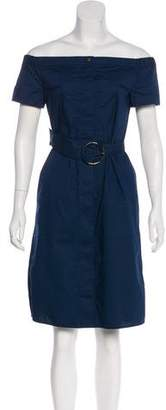 Tory Burch Off-The-Shoulder Mini Dress
