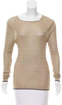 Etro Open Knit Crew Neck Sweater