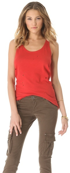 Alice + Olivia Air by Distressed Long Tank