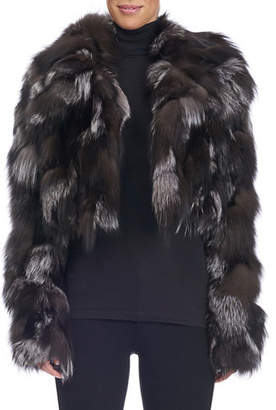 Michael Kors Collection Cropped Fox Fur Jacket