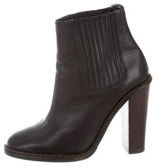 Opening Ceremony Leather Round-Toe Ankle Boots