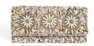 G Lish G-Lish Beaded Transitional Floral Clutch