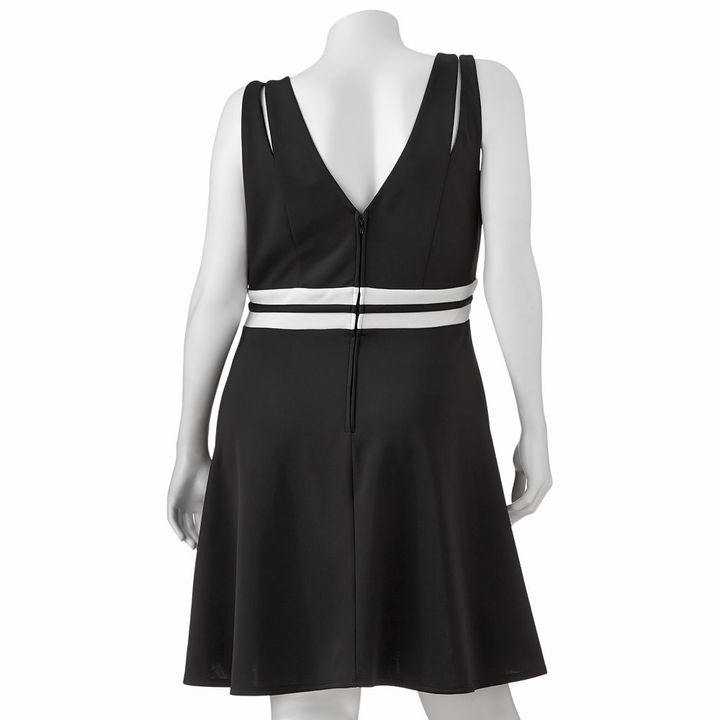 Trixxi striped skater dress - juniors' plus