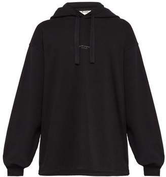 Acne Studios Cotton Hooded Sweatshirt - Mens - Black