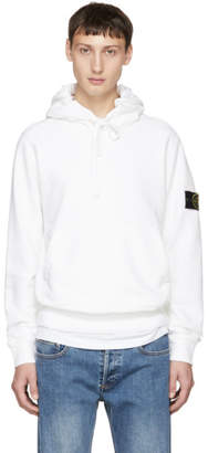 Stone Island White Logo Arm Badge Hoodie