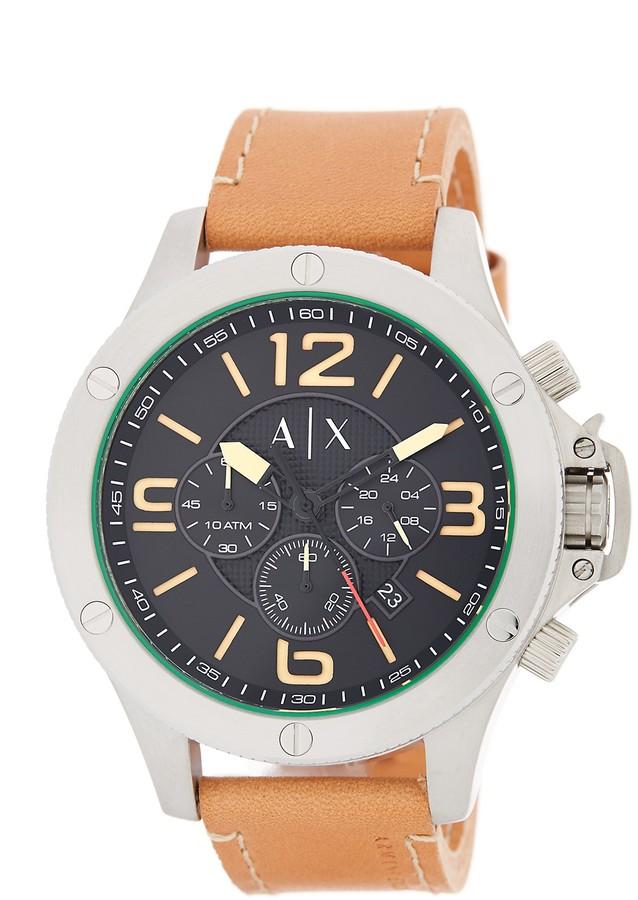 Armani Exchange Armani Exchange Men's Wellworn Leather Watch