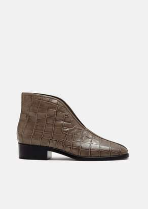 Lemaire Croco Embossed Open Boots