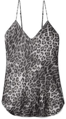 Nili Lotan Isabella Leopard-print Silk-satin Camisole - Gray