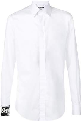Dolce & Gabbana beaded cuff shirt