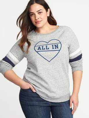Old Navy Relaxed Plus-Size Graphic French-Terry Sweatshirt
