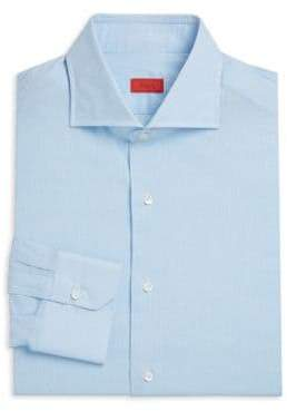 Isaia Cotton& Linen Dress Shirt