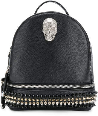 Philipp Plein studded skull detail backpack