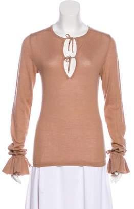 Saint Laurent Cashmere-Blend Long Sleeve Top