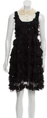 Anna Sui Sequin Sleeveless Dress Black Sequin Sleeveless Dress