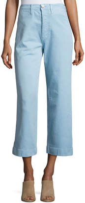 MiH Jeans Caron High-Rise Cropped Wide Leg Pants, Blue