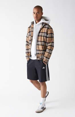 adidas 3-Stripe Black & White Sweat Shorts