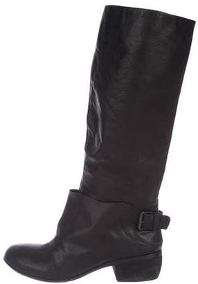 Modern Vintage Leather Knee-High Boots
