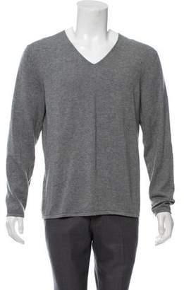 Theory Cashmere-Blend V-Neck Sweater