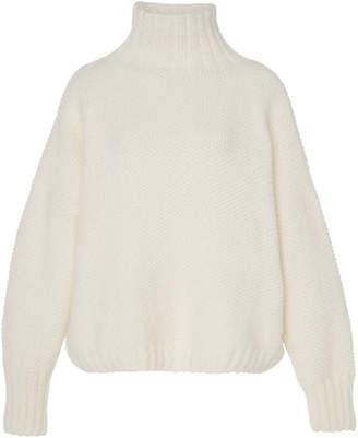 Tuinch M'O Exclusive Appliquéd Cashmere Turtleneck Sweater