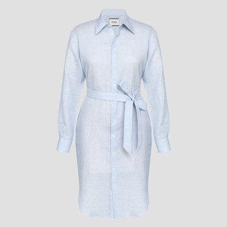 Darcina Linen Stripe Dress $345 thestylecure.com