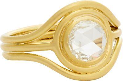 Irene Neuwirth Diamond Collectio Diamond & Gold Triple-band Ring