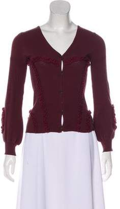 Just Cavalli Long Sleeve Button-Up Cardigan