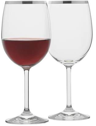 Set of 4 Selene Platinum Trim Wine Glasses