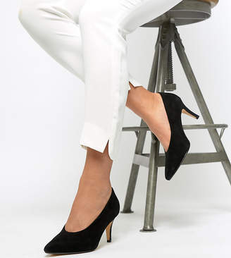 Dune Amorell Wide Fit Suede Pointed Heels