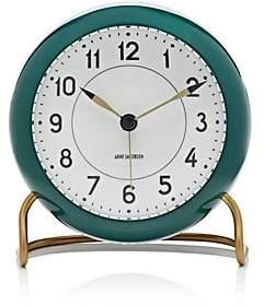 Carl Mertens Station Table Alarm Clock-Green