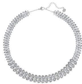 Swarovski Silver Tone Crystal Baron Collar Necklace