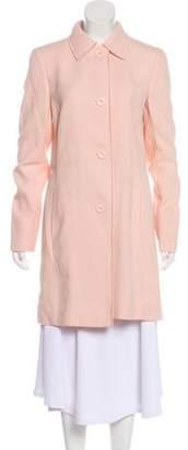 Akris Wool & Linen Knee-Length Coat