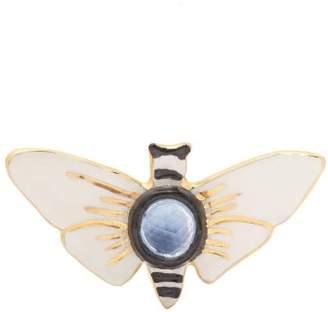 Sonia Boyajian - Butterfly Ceramic Brooch - Womens - White