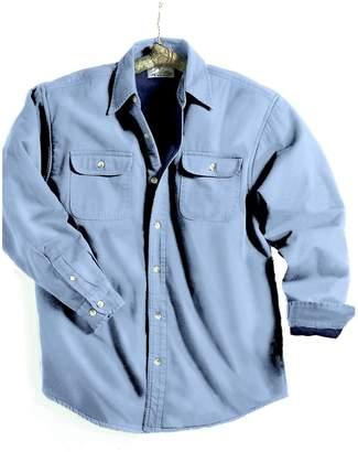 Tri-Mountain Men's Big And Tall Denim Shirt Jacket
