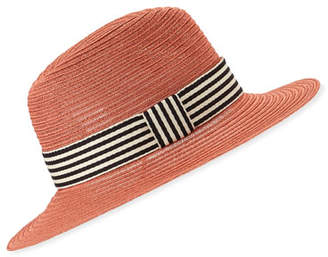 Eugenia Kim Courtney Packable Fedora Hat w/ Striped Band