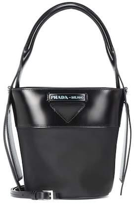 0dc02d8e1b56 Prada Leather-trimmed nylon bucket bag