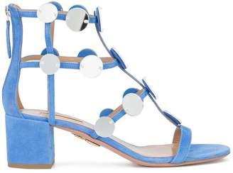 Aquazzura disc embellished gladiator sandal